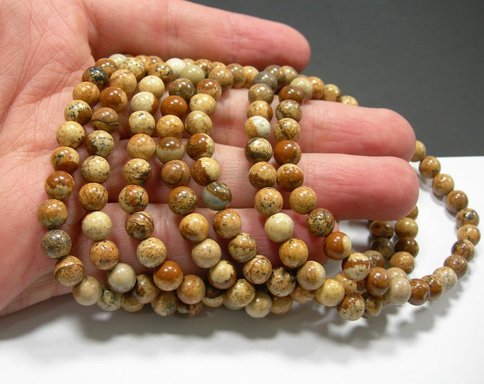 Picture Jasper - 1 set - 6mm - 29 beads - A quality  - HSG282
