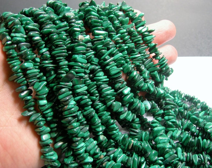 Malachite Gemstone - chip stone - full strand - 16 inch Genuine Malachite - PSC278