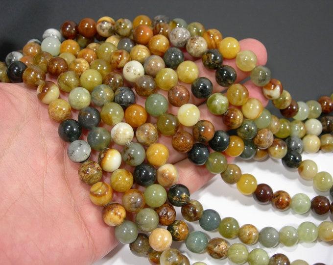 New Jade 10 mm round - AA quality - 40 beads per strand - full strand - RFG2021