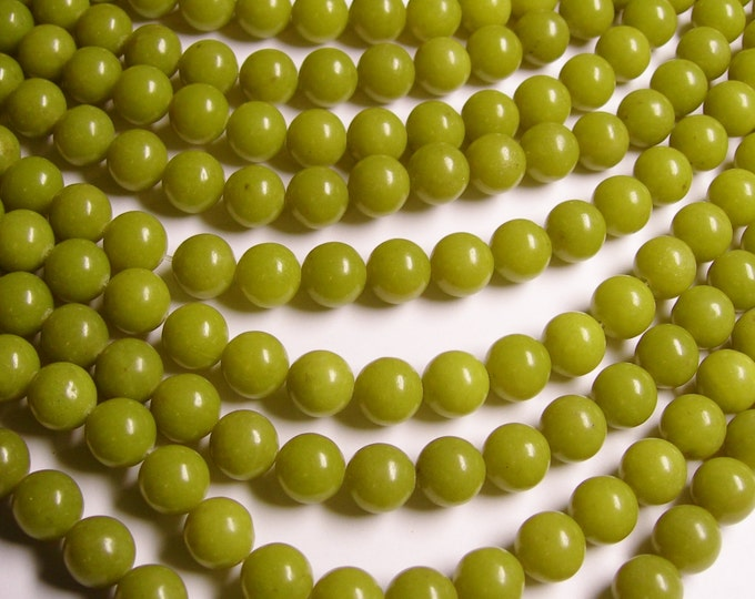 Olive Jade - 10mm round beads - 1 full strand - 38 beads per strand - A quality -  RFG960