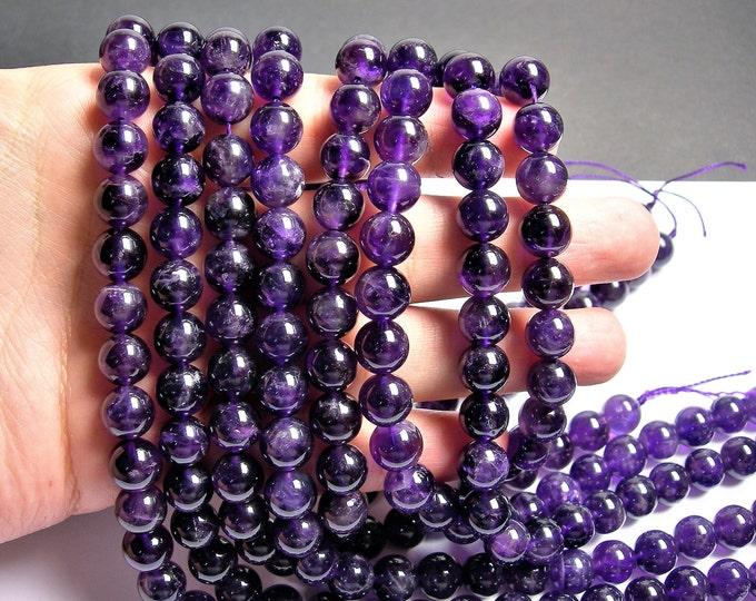 Amethyst - 10mm(9.5mm)  round - 1 full strand - 40 beads - RFG940