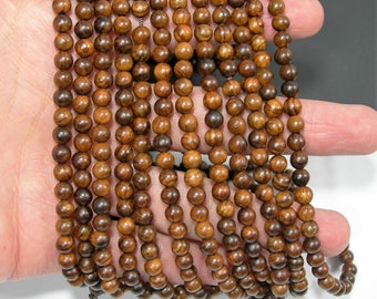 Sandalwood  - 6mm(5.6mm)round beads - full strand - 71 beads - Pure natural Sandalwood - RFG1887