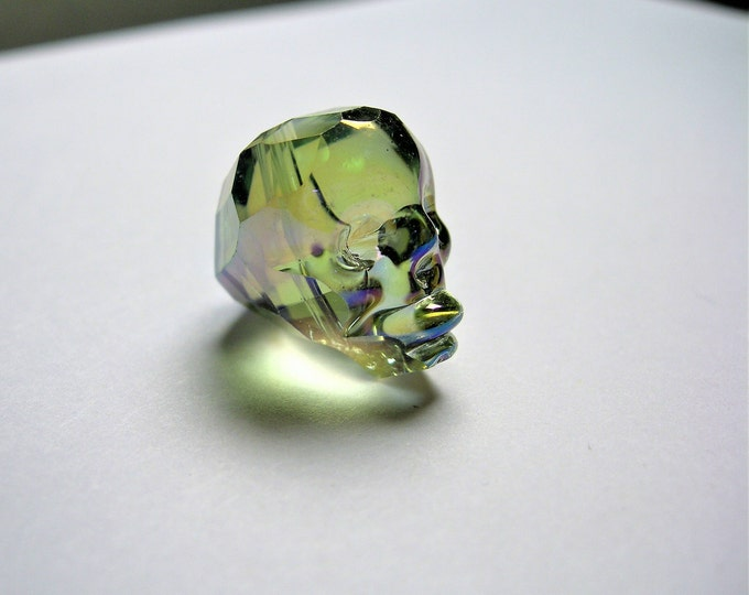 Crystal faceted skull - 1  pcs - 20mm - Mystic Aqua rainbow  - SFB6