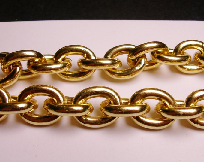 Gold chain - lead free nickel free won't tarnish - 1 meter - 3.3 feet - aluminum chain - cable chain - NTAC18