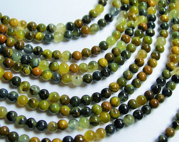 Golden Pietersite - 4mm round bead - A quality - 98 beads - full strand - RFG778