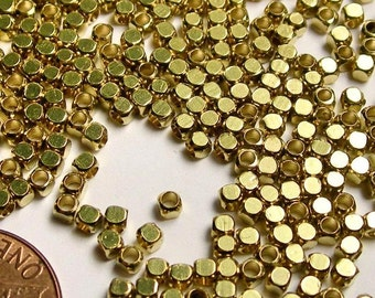 Brass beads 2.5mm - 100 pcs - Gold  - BRC1