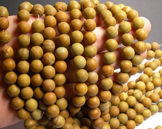 Wood Jasper matte - 10 mm round beads - 1 full strand - 39 beads - Matte - RFG175