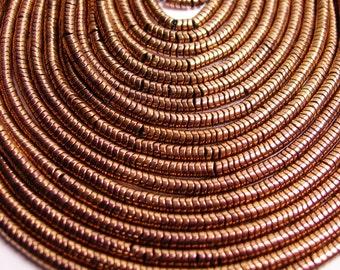 Hematite bronze - 3x1mm heishi beads - full strand - 390 beads - A quality - PHG112