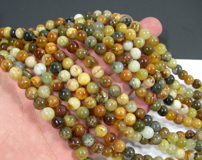 New Jade 8 mm round - AA quality - 49 beads per strand - full strand - RFG2028