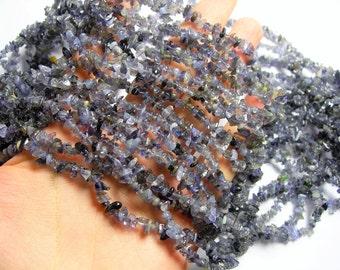 Iolite Gemstone - chip stone beads - 36 inch - 4mm - PSC334