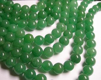 Aventurine - 12 mm round beads -1 full strand - 33  beads - AA quality - RFG974
