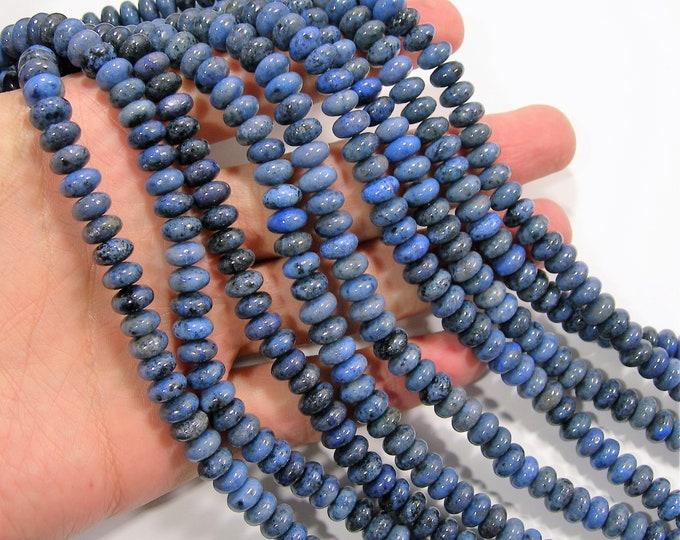 Dumortierite - 8mm rondelle - full strand - 81 beads per strand - 5mm x 8mm - RFG1900