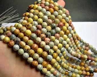 Sky eye Jasper - 10 mm round beads -1 full strand - 40 beads - A quality - RFG1240