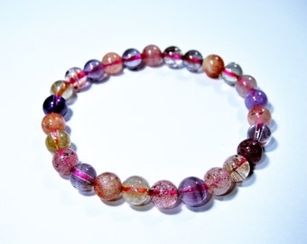 Super seven - 27 beads - 6.6mm  - 12.3 grams - melody stone - cacoxenite - Wholesale deal - SS1
