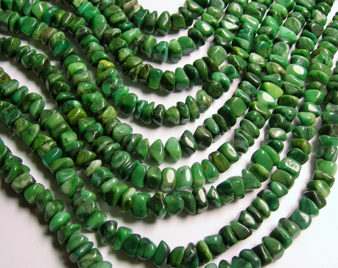 Verdite - bead - full strand - 10mm -  pebble nugget - chip stone - PSC139