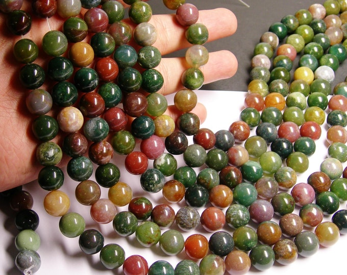 Indian agate 12mm- full strand - 33 beads per strand - RFG953