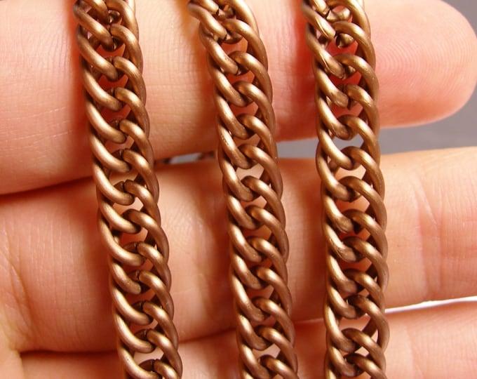 Copper chain - 1 meter - 3.3 feet - aluminum chain  -  lead free nickel free won't tarnish - NTAC114