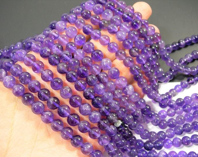 Amethyst - 8 mm round - 1 full strand - 48 beads - RFG91A