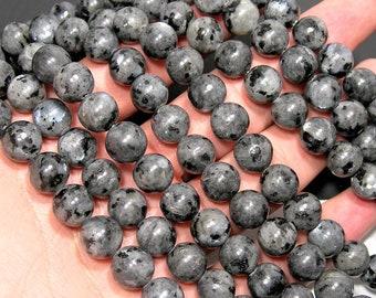 Larvikite 10mm(10.3mm) - full strand 39 beads - black labradorite - WHOLESALE DEAL - RFG1894