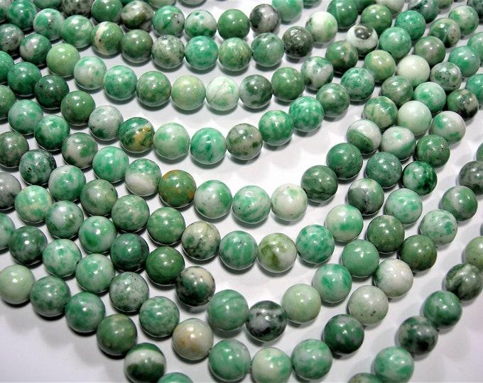 Hydrogrossular - 8mm round beads - full strand - 47 beads  - RFG1496