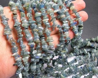 Kyanite gemstone - chip stone - pebble-  nugget - bead - 36 inch  strand - PSC38