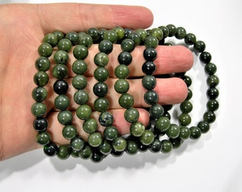 Jade - 8mm round beads - 23 beads - 1 set - A quality - HSG7
