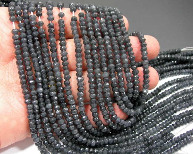 Grey Jade 2mmx4mm (2.7mmx4.4mm) faceted rondelle beads - full strand - 119 beads - Color jade - RFG2217