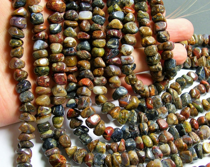 Pietersite - bead - full strand -  pebble nugget - chip stone - PSC138