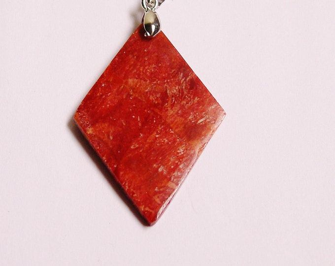 Coral pendant focal piece bail included 1 pcs natural-SP-22