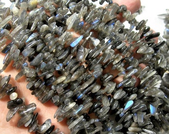 Labradorite gemstone - stick point - 16 inch -full strand - RFG1704