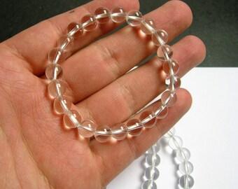 Quartz - Clear quartz  - 1 set - 8mm - 23 beads - A quality  - HSG1