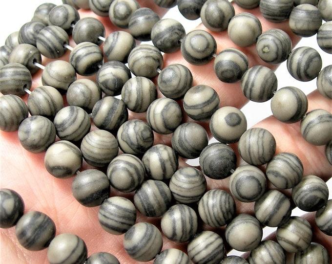 Coffee Jasper - 8mm round beads - full strand - 48 beads - RFG1666