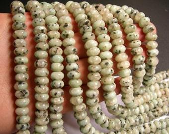 Lotus Jasper - 10mm roundelle - beads -1 full strand - 65 beads - 6x10mm - RFG1442
