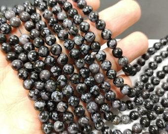 Indigo Gabbro - 6mm round beads - full strand - 63 beads - Mystic Merlinite -RFG2250