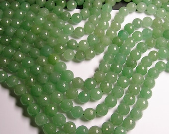 Aventurine - 12 mm faceted round beads -1 full strand - 31 beads - A quality - small cut - RFG978