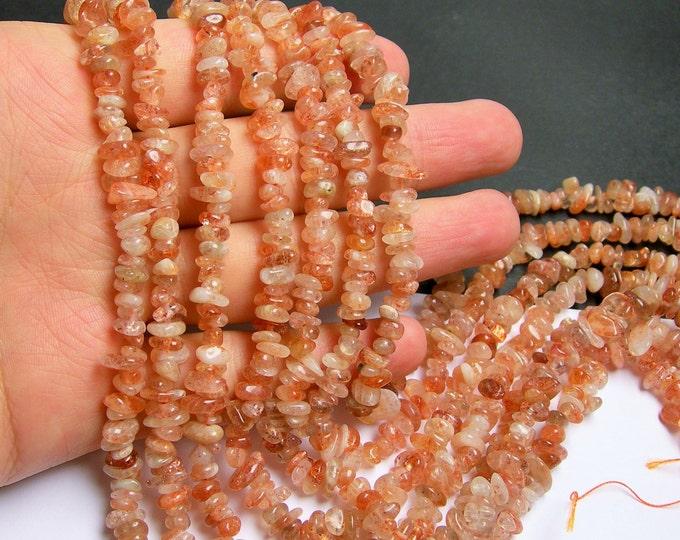 Sunstone gemstone  - bead - full strand - pebble - chip stone - A quality - PSC21