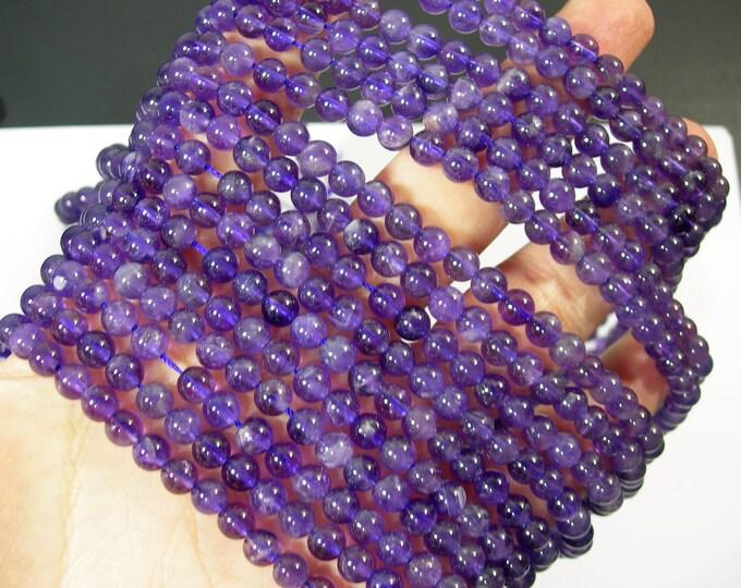 Amethyst - 6mm(5.6mm - 5.9mm) round - full strand - 69 beads - RFG1776