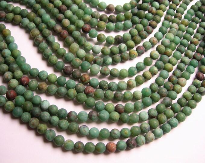 Australian Bloodstone - Matte - 6mm round beads - 1 full strand - 64 beads - WHOLESALE DEAL - RFG994