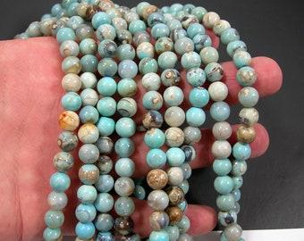 Aqua terra Agate - 8mm round beads - full strand - 48 beads - Robin's egg Agate - RFG1915