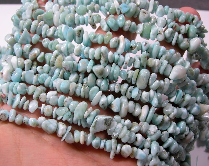 Larimar Gemstone - full strand - pebble - chip stone - RFG1711