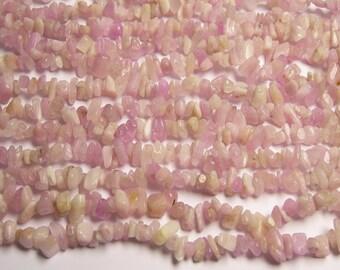 Kunzite Gemstone - chip stone - bead  - full strand - 36 inch - A quality -  Genuine KUNZITE - PSC60