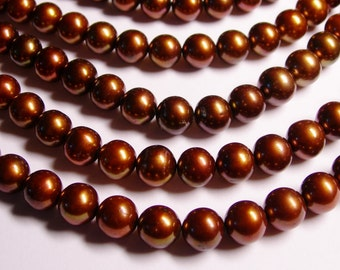 Fresh water brown Pearls 10mm - full strand - 42 beads/Pearl