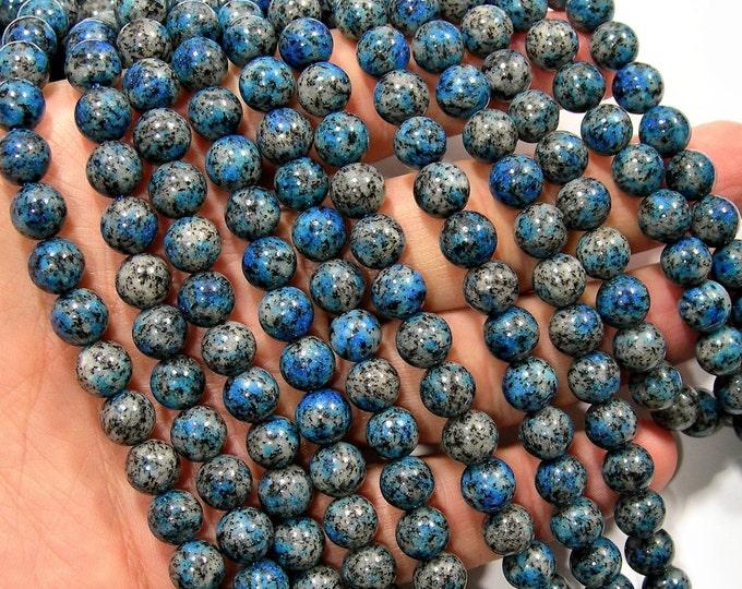 K2 Jasper - 8mm(8.4mm) round beads - full strand - 47 beads - Dark K2 Jasper - RFG1997
