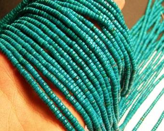 Howlite turquoise - 4mmx2mm  heishi beads - 1 full strand - 175 pcs - AA quality - RFG187