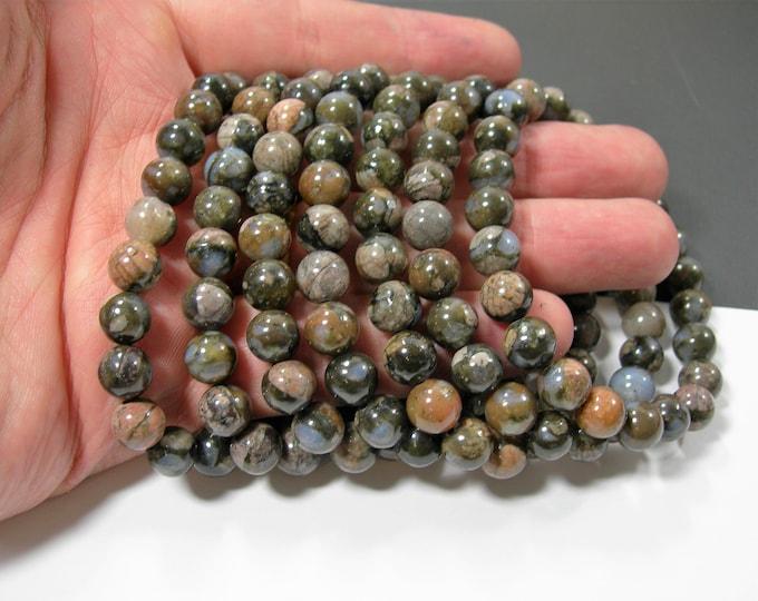 Llanite  - 8mm round beads - 23 beads - 1 set - HSG249