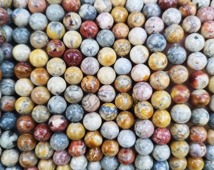 Sky eye Jasper - 8 mm round beads - full strand - 49 beads - A quality - RFG372