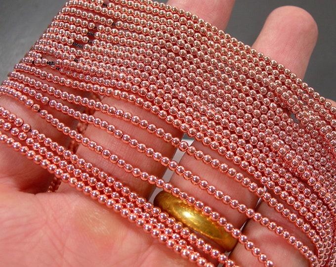 Hematite Rose Gold - 4 mm round beads - full strand - 110 beads - AA quality - RFG2103