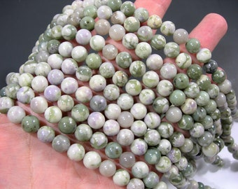 Peace Jade - 8 mm round  beads - 48 beads per strand - Lucky jade - harmony  jade - RFG182