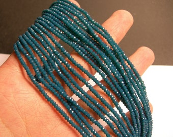 Crystal - rondelle  faceted 3mm x  2mm beads - 200 beads - AA quality - emerald - CAA2G105