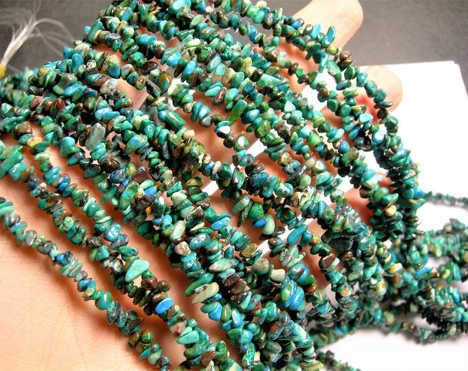 Chrysocolla  gemstone 35 inch strand - chip stone - PSC341